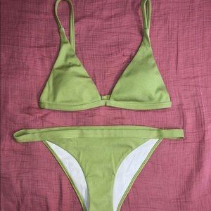 PacSun green ribbed bikini